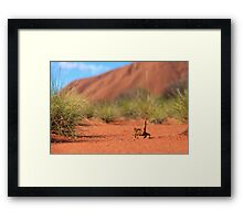 Follow me to Ayers Rock Framed Print