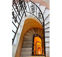 Spiral Marble Staircase Photographic Print