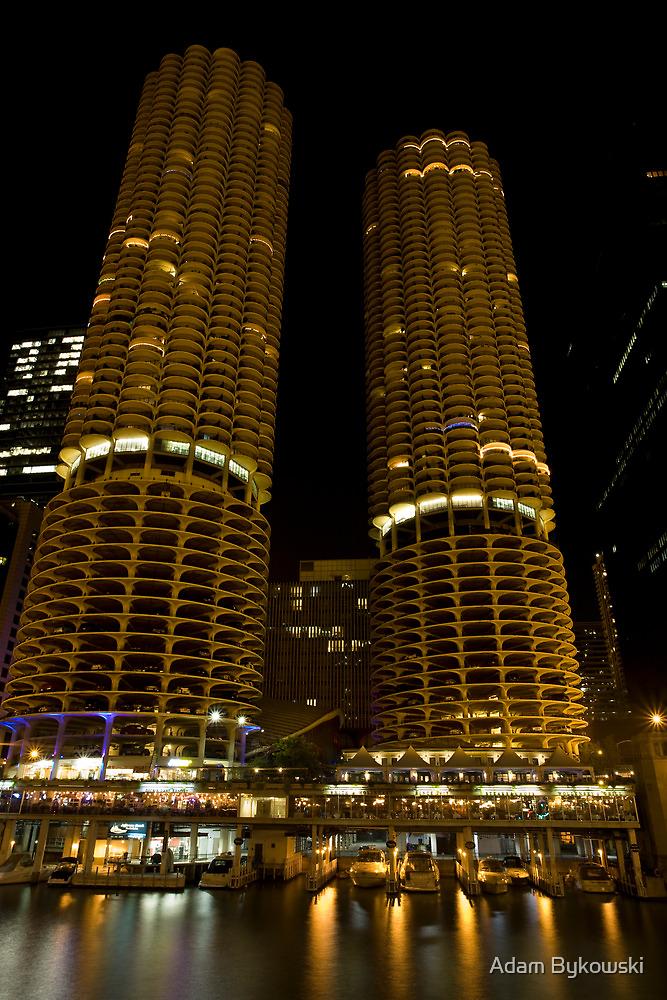 Marina Towers - Chicago, Illinois by Adam Bykowski