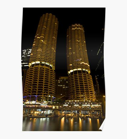Marina Towers - Chicago, Illinois Poster