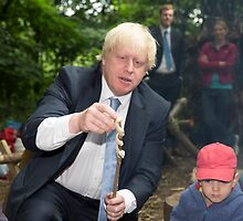 London Mayor Boris Johnson toasts dough during his visit to new kids' adventure centre in Bexley by Keith Larby