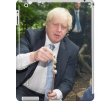 London Mayor Boris Johnson toasts dough during his visit to new kids' adventure centre in Bexley iPad Case/Skin