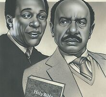 Amen (Sherman Hemsley Portrait) by Mike Cressy