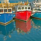 Scallop fishing boats by Roxane Bay