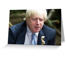London Mayor Boris Johnson visits new kids' adventure centre in Bexley Greeting Card