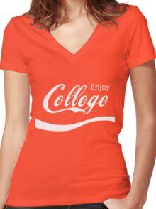 Enjoy College Life Funny LOL Design Women's Fitted V-Neck T-Shirt