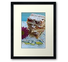 Cherry Almond Slice Framed Print