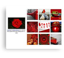 Love Red  The Most Popular Entry in This Challenge  Canvas Print