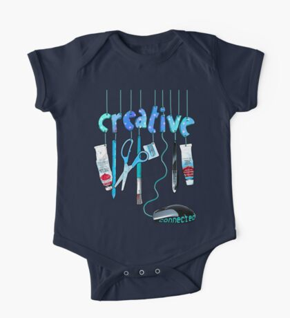 Connected Creative in Blue One Piece - Short Sleeve