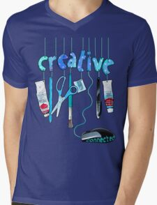 Connected Creative in Blue Mens V-Neck T-Shirt