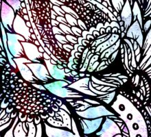 Purple blue watercolor floral hand drawn pattern Sticker