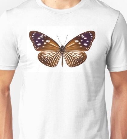 butterfly species Euploea Mulciber female Unisex T-Shirt