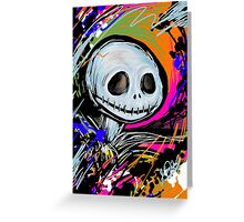 Jack Skellington Abstract Greeting Card