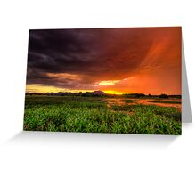 Red Sky At Night Greeting Card