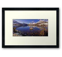 Cradle Snow Panorama Framed Print