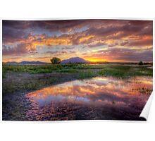 A Rare Sunset Photo by Bob Larson Poster