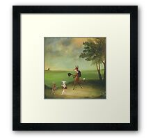 """Master Lamb and His Painting Tutor Discoursing on Perspective"" Framed Print"