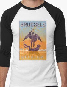 Brussels vintage poster Men's Baseball ¾ T-Shirt