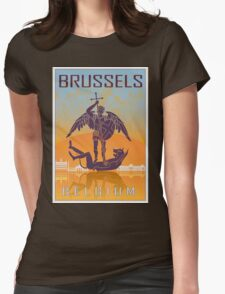 Brussels vintage poster Womens Fitted T-Shirt