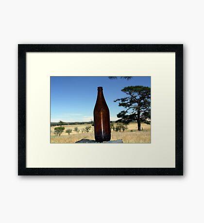 good ole long neck Framed Print