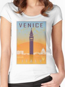 Venice vintage poster Women's Fitted Scoop T-Shirt