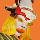 olive eyes orange by Soxy Fleming