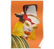 olive eyes orange Poster