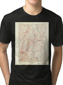 Massachusetts  USGS Historical Topo Map MA Barre 352453 1894 62500 Tri-blend T-Shirt