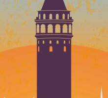 Istanbul vintage poster Sticker