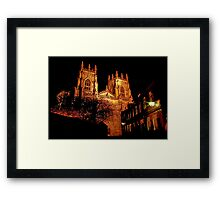 York Minster by Light Framed Print
