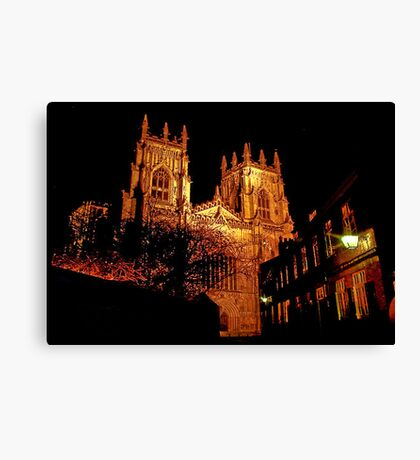 York Minster by Light Canvas Print