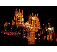 York Minster by Light Photographic Print