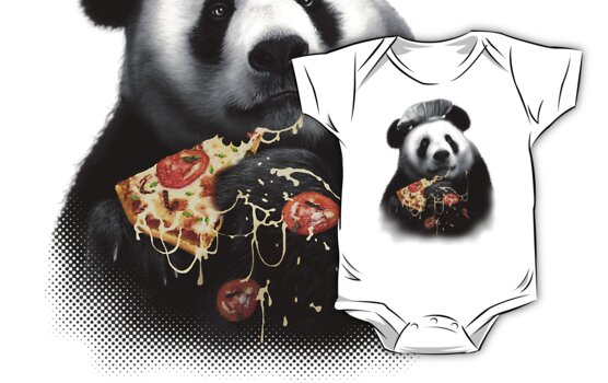 PANDA LOVES PIZZA by MEDIACORPSE
