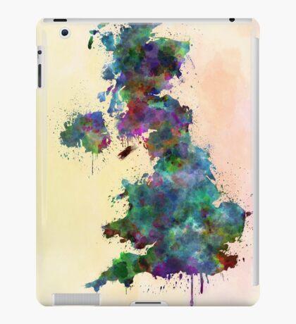 United Kingdom map watercolor style splash iPad Case/Skin