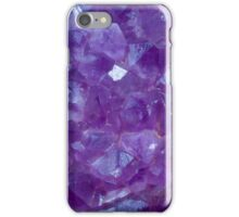 amethyst crystal stone detail iPhone Case/Skin