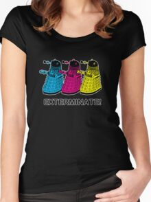 Doctor Who - Exterminate! Women's Fitted Scoop T-Shirt