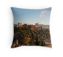 Alhambra in Granada, Spain Throw Pillow