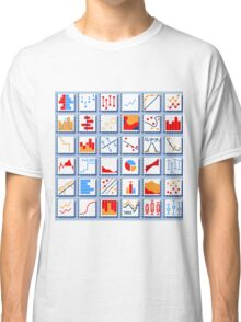 Stats Element Set in Various Colors Classic T-Shirt