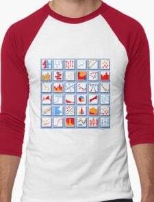 Stats Element Set in Various Colors Men's Baseball ¾ T-Shirt