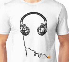 Sound Explosion - music detonation in monochromatic view Unisex T-Shirt