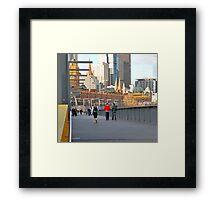 Yarra River Pedestrians Framed Print