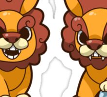 Baby Shisa Foo Dog Pair Sticker