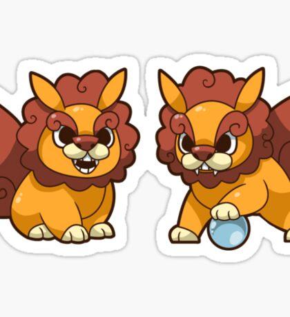Baby Shisa Foo Dog Pair Sticker