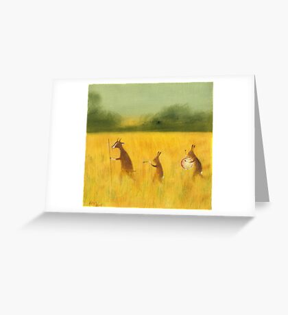 The Strolling Players Greeting Card