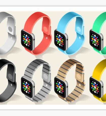 Isometric Smart Watch in Six Colors Sticker