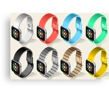 Isometric Smart Watch in Six Colors Canvas Print