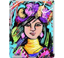 Pretty Flower Girl Abstract Art iPad Case/Skin