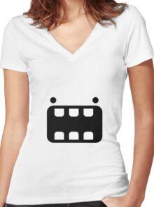 goofy monster Women's Fitted V-Neck T-Shirt