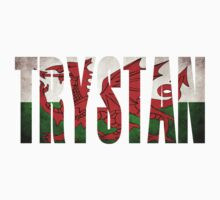 Welsh Name T Shirts / Enw Gymraeg - Trystan Kids Clothes
