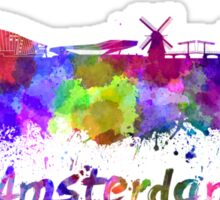 Amsterdam skyline in watercolor Sticker